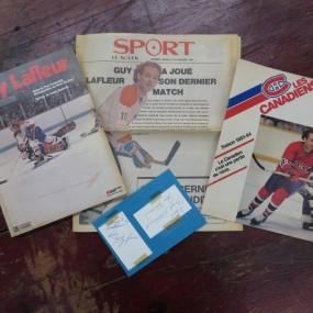 #24760 -  Revue de hockey, signature de Guy Lafleur et Jean Béliveau
