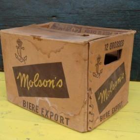 #24735 -  Ancienne caisse de bière Molson