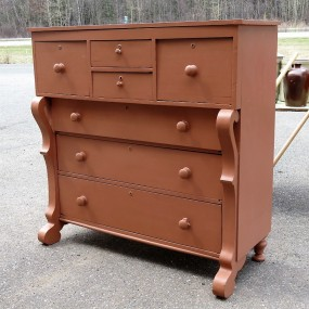 Bonnet chestof drawers