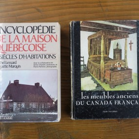 #26503 - 20$ ch. Livres sur les meubles et maisons Québécoises
