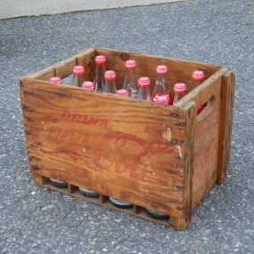 #22407 - 50$ coca-cola wooden box