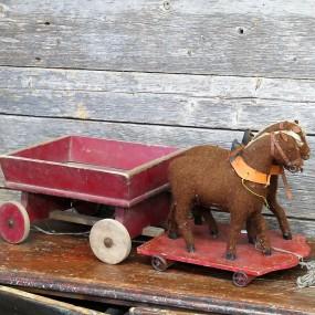 #22430 -  Ancien jouet, chevaux