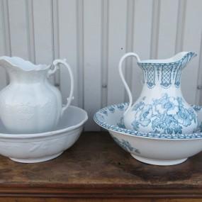 #24761 -  Ensemble de pots et bols à eau, pots de chambre