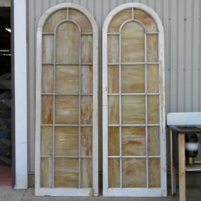 1 vendu Châssis, fenêtre avec vitres de style Tiffanny