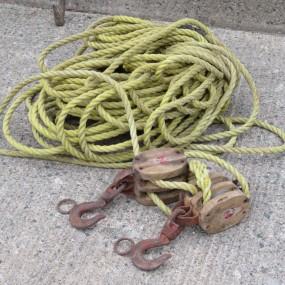 #26576 - 55$ Poulies et cordage