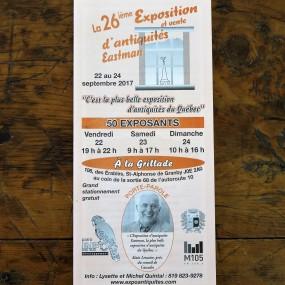 #23756 -  Exposition et vente d'antiquités Eastman, 22 à 24 septembre