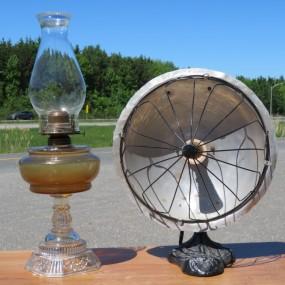 #26838 -  Lampe à l'huile et chaufferette