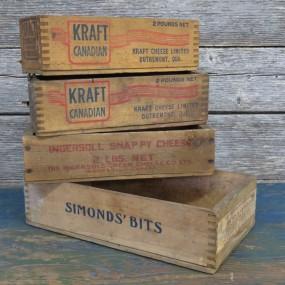 #26845 - 12$ ch. Petites boîtes, caisses à fromage