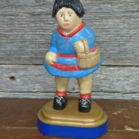 Folk art wooden sculpture by Gagnon