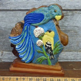 Folk art wooden sculpture by Gagnon