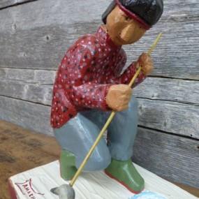 Sculpture art populaire signée Gamache