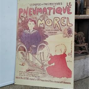 Le pneumatique Morel cardboard sign