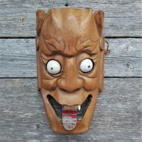 Ancien masque en bois, provenance inconnue