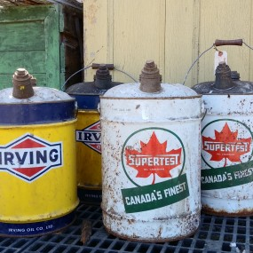 Old oil cans, Irving and Supertest