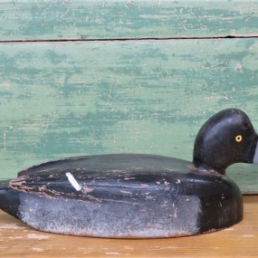 Wooden decoy, Bluebill by Reg Bloom