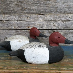 Wooden decoys, duck