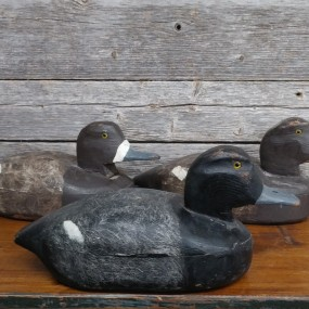 Wooden hunting duck decoys