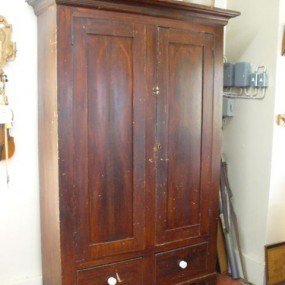 Antique pine cupboard with original color
