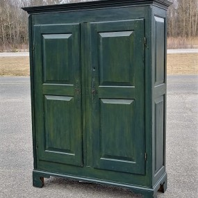 Pine antique armoire, cupbard, has been restored
