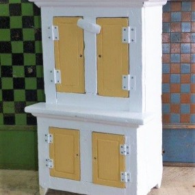 Antique toy cupboard