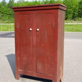 Primitive Quebec pine cupboard