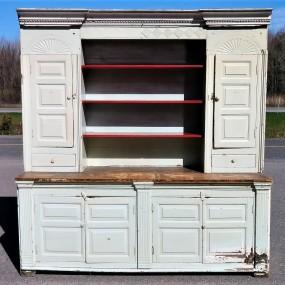 Armoire vaisselier ouvert, clous forgés