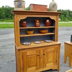 Buffet, open-dish dresser stepback armoire