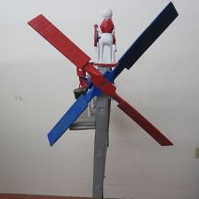 Art populaire, girouette mécanique Circa 1934