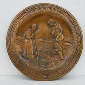 Cuper decorative plate, Albert Nadeau sign