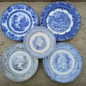 Flow Blue dishes plates