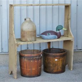 Bucket bench, original color, Early 20th century