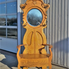 Hall rack chair with miror