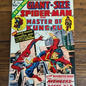 Spider-Man and master Kung Fu vintage comic book