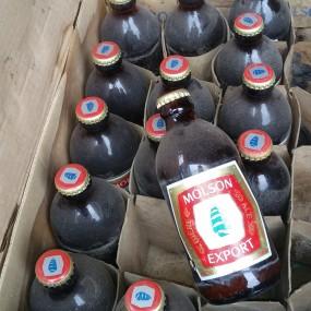 Molson beer bottles