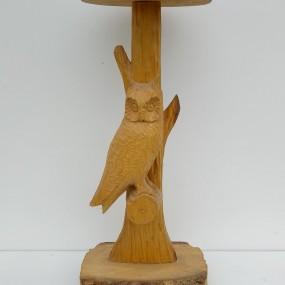 Cendrier sculpté avec hibou