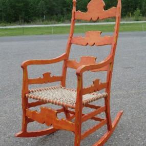 Chaise berçante, berceuse fabriquée dans les années 1960
