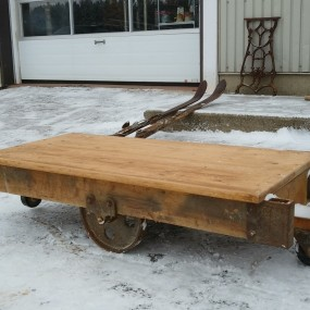 Industrial cart, coffee table