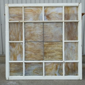 Wooden windows with Tiffany glass