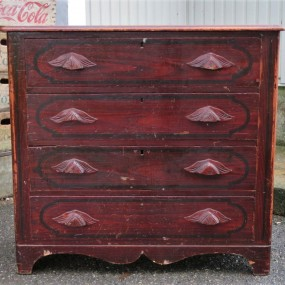 Pine commode, chest of drawers
