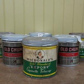 Tobacco tin can, Old Chum and MacDonald