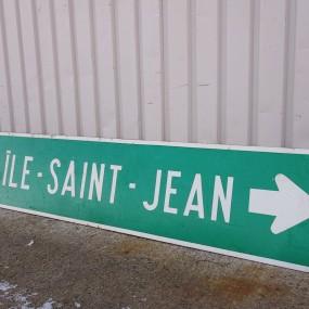 île-St-Jean road sign