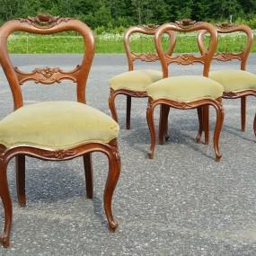 Ensemble de 4 chaises Victoriennes