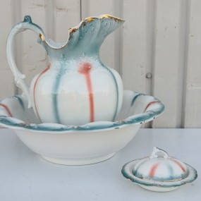 Dishes, pitcher and bowl