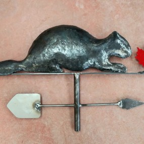 Beaver weathervane (reproduction)