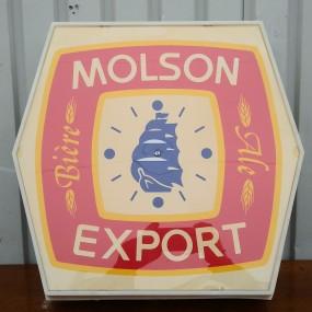 Molson Export advertising clock
