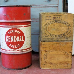 #29757 - 55$ et 25$ ch. Kendall barrel and butter boxes