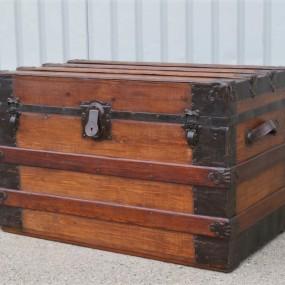 #32143 - 345$ Malle de voyage, valise, coffre restauré