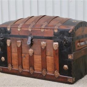 #32167 - 345$ Malle de voyage, valise, coffre restauré