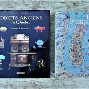 #32158 - 65$ et 85$ Livres de Michel Lessard et île d'Orléans