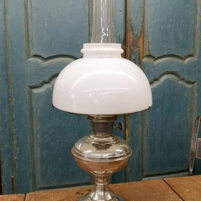 Lampe aladdin, globe craqué